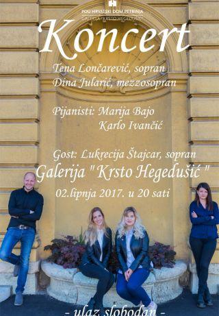 POU Hrvatski dom Petrinja i galerija Krsto Hegedušić pozivaju vas na koncert