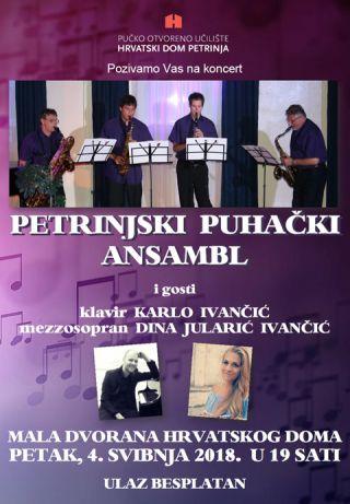 Koncert Petrinjskog puhačkog ansambla