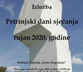 Petrinjski dani sjećanja - rujan 2020.