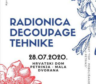 RADIONICA DECOUPAGE TEHNIKE