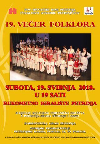 19. večer folklora